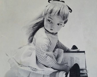Vintage Book, The LONELY DOLL, Story & Photographs by Dare Wright, 1957, Zephyr Books, Beautiful Doll, Two Teddy Bears, Adorable Friendship!