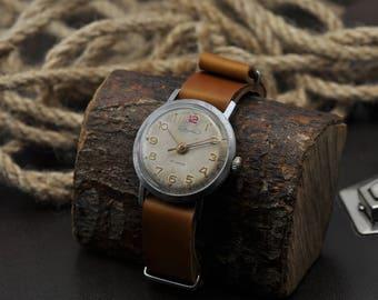 Rare Brand Volna Precision Gilt Chchz Vostok Watch Fact 50s Soviet Mov.zenith