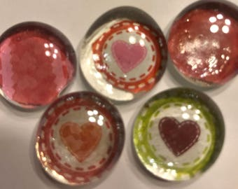 Glass magnets 10 per set