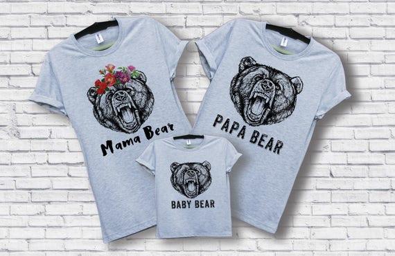 Mama Bear Papa Bear Baby Bear Shirts Family Gift Newborn Gift