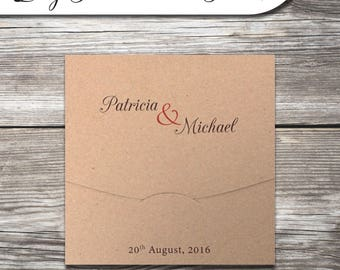 Wedding Invitation - Kraft Folder