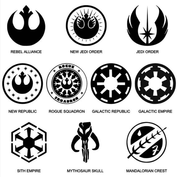 Star wars logos and symbols vinyl decals - Republic star wars logo ...