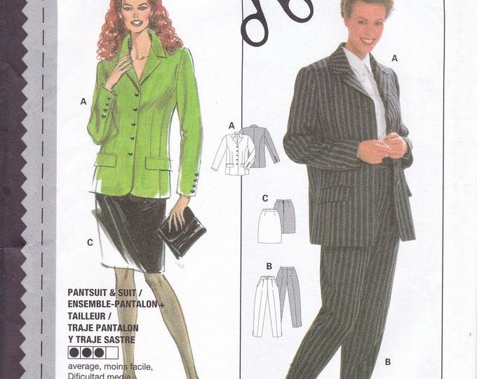 FREE US SHIP Burda 3647 Sewing Pattern Summer Couture Sandra Betzina Jacket Skirt Pants Size 6 8 10 12 14 16 18 Bust 30 31 32 34 36 38 40