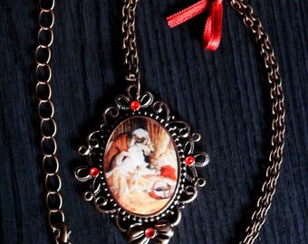 Picture Locket necklace fairy tale Red Riding Hood