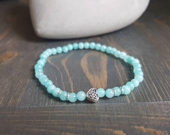 Delicate amazonite bracelet