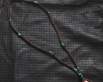 Sun Stone - Ethnic - Macrame - Turquoise - Boho - Tribal - Travel - Pixies - Fairy - Design - Gems - Festivals - Unique - Boom - Burning Man