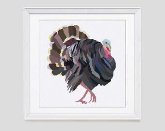 Cross stitch pattern, Turkey counted cross stitch, Turkey cross stitch pattern