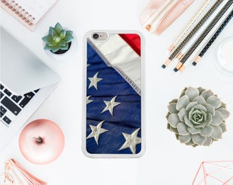 America Iphone 7 case flag Iphone 8 hard case stars iphone 7 protective case freedom iphone 8 case gift for her Valentines day OT92