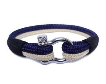 Nautical bracelet/Mens bracelet/Sailor Bracelet/Bracelet for men/knot bracelet/Rope bracelet/paracord bracelet/Shackle Bracelet