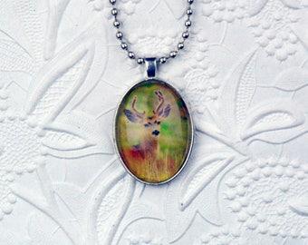 Deer Necklace Photo Necklace Deer Jewelry Deer Photo Wildlife Photography Deer