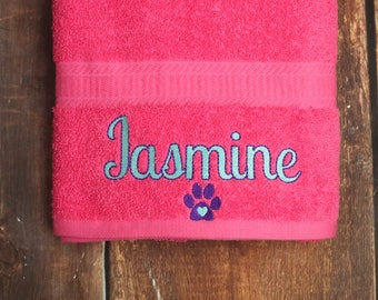 Dog Bath Towel - Personalized Dog Towel - Custom Pet Towel - Dog Towel - Dog Gift - Embroidered Towel - Dog Towel with Name - Custom Dog