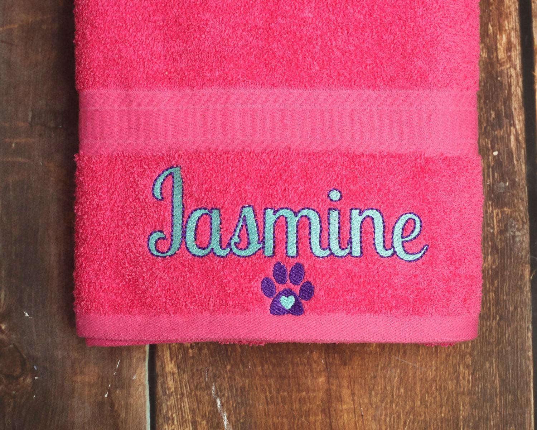 Dog Towel Personalized Dog Towel Dog Bath Towel Custom