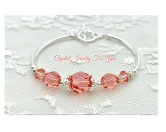 Bridesmaid Bracelet, Bridal Party Gift, Crystal Bracelet