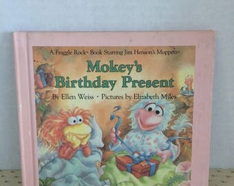 Vintage 1980's Fraggle Rock Book, 80s characters book, Fraggle Rock Weekly Reader Books, Jim Henson's Muppets