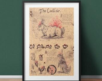 Large - Coell'nir - Original Creature Art Print