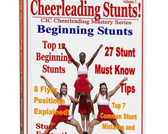 Cheerleading Beginning Stunts Ebook, Cheerleading Coach, Cheer Mom, Cheer Coach, Cheerleading Gift, Cheerleader Gift, Cheerleading Bow
