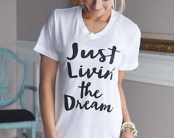 JUST LIVING The Dream ladies t-shirt
