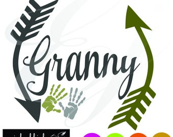 Granny with hands svg dxf eps png arrows Digital Cutting Design- Instant Download-Vector File Graphic Design