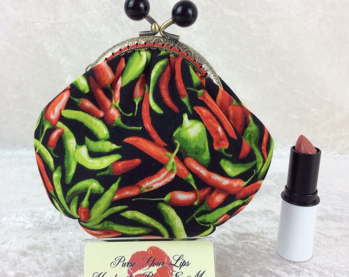 Chillis Amy frame coin purse wallet hand stitched handmade in England