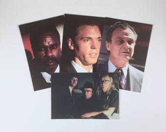 X-Files Postcards, Agent Krycek, X, The Lone Gunmen, Deep Throat, Vintage Set of 4 Characters, Set 010, Truth is Out There