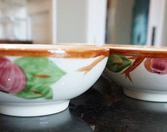 Set of  7 Vintage Franciscan Apple Cereal Bowls/Made in England