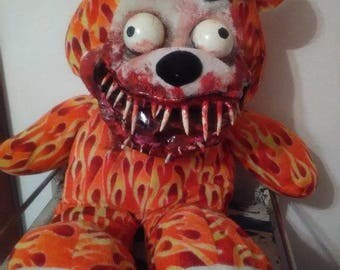 Flaming Toothy Teddybear! WOW! Always FREE Shipping in US!