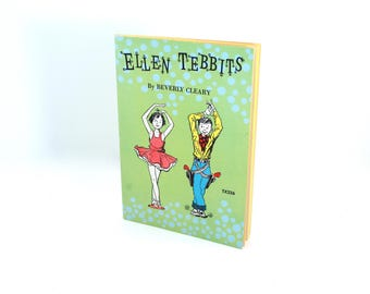 """NEAR-MINT """"Ellen Tebbits"""" paperback book by Beverly Cleary, author of the """"Ramona"""" series! 1973 printing, Otis Spofford, 1950s young adult"""
