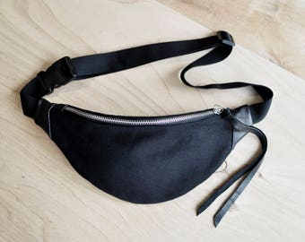 Black Jeans Waist bag money belt hip bag belt bag fanny pack, black jeans bum bag, festival bag, gift for him