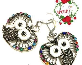Valentine Heart Shaped Owl Earrings, Large Silver Owl earrings, On Trend Earrings, Unique Owl Earrings, Stunning Owl Earrings,Valentine Gift