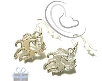 Silver Horse Earrings, Miniature Silver Drop  Earrings, Cute Tiny Earrings, Horse lover Gift, Every Day Earrings, Stylish On Trend Earrings