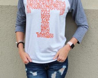 UT Vols Shirt - Vols Shirt - Tennessee Shirt - Football Shirt - Rocky Top Shirt - Womens Shirt - Ladies Shirt - Womens Top - Ladies Top- UT