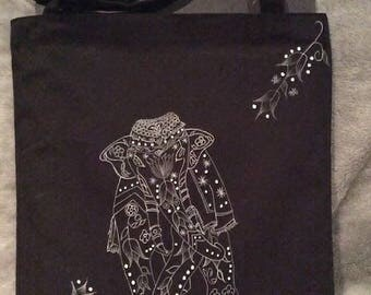 Monochrome Animals Canvas Tote Bag Collections...