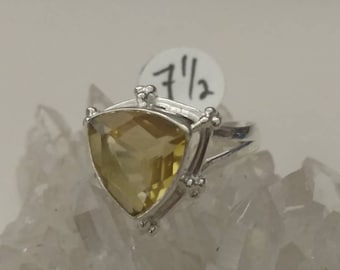 CLEARANCE *Citrine Ring Size 7 1/2