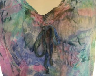 Rayon Tie Dye Garden Dress