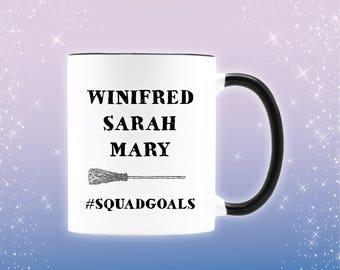 The Sanderson sisters Hocus Pocus mug, Winifred hocus pocus, hocus pocus gift, Sarah Sanderson hocus pocus coffee mug,hocus pocus coffee cup