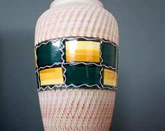 Vintage West German 575-25 Pottery Vase Retro Mid Century 50s 60s 70s