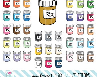 45 Doodle Prescription Clipart. Personal and comercial use.