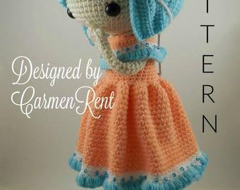 Camille- Amigurumi Doll Crochet Pattern PDF