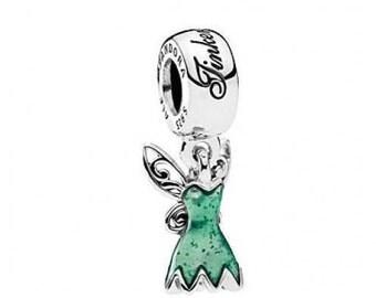 Pandora Disney  Tinker Bell's Dress Glittering Green  Comes with Pandora Pouch  #792138EN93