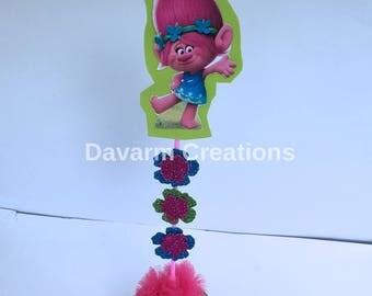 Princess Poppy Centerpiece Candy Holder,Poppy Troll Centerpiece, Troll Poppy Birthday Decor, Trolls Party Decorations, Poppy Birthday,Poppy