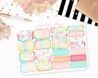 Summer Fruits - Tropical Themed Planner Stickers // Half Box Designs // Perfect for Erin Condren Vertical Life Planner