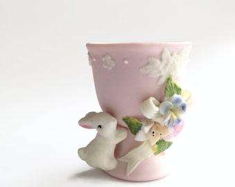 Vintage Bunny Rabbit Egg Cup - Easter Decorations - Egg Holder - Easter Egg Display