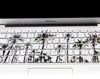 """Keyboard Cover Silicone Skin for MacBook Pro 13"""" 15"""" 17"""" (with or w/out Retina Display) iMac and MacBook Air 13"""" tropical trees"""
