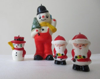 Perfect lot of Vintage Christmas Candles!