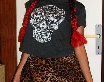 Silk Leopard Print Shorts, Summer Shorts, Beach Shorts, Cat Print Short