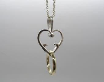 Ring Holder Heart pendant