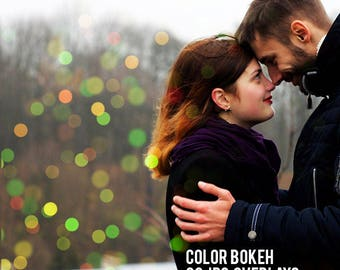 Color Bokeh Overlays - Bokeh Overlay - Photo Overlays - Bokeh Light Effect - Photoshop Overlays - Color Bokeh - Photo Filters