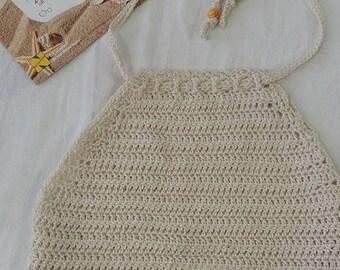 """Crochet Top Crop """" Beach Sand"""""""