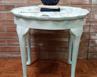 Shabby Chic Furniture, Painted Furniture, Side Table, Coffee Table,  Cocktail Table,