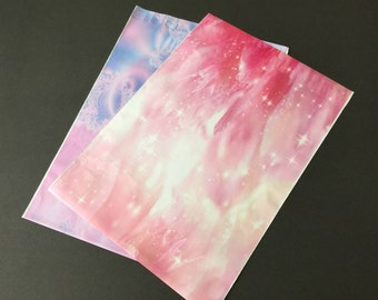 100 Assortment 10x13 Designer Poly Mailers Pink Peony Stars and Glowing Pink 50 each Shipping Bags Envelopes